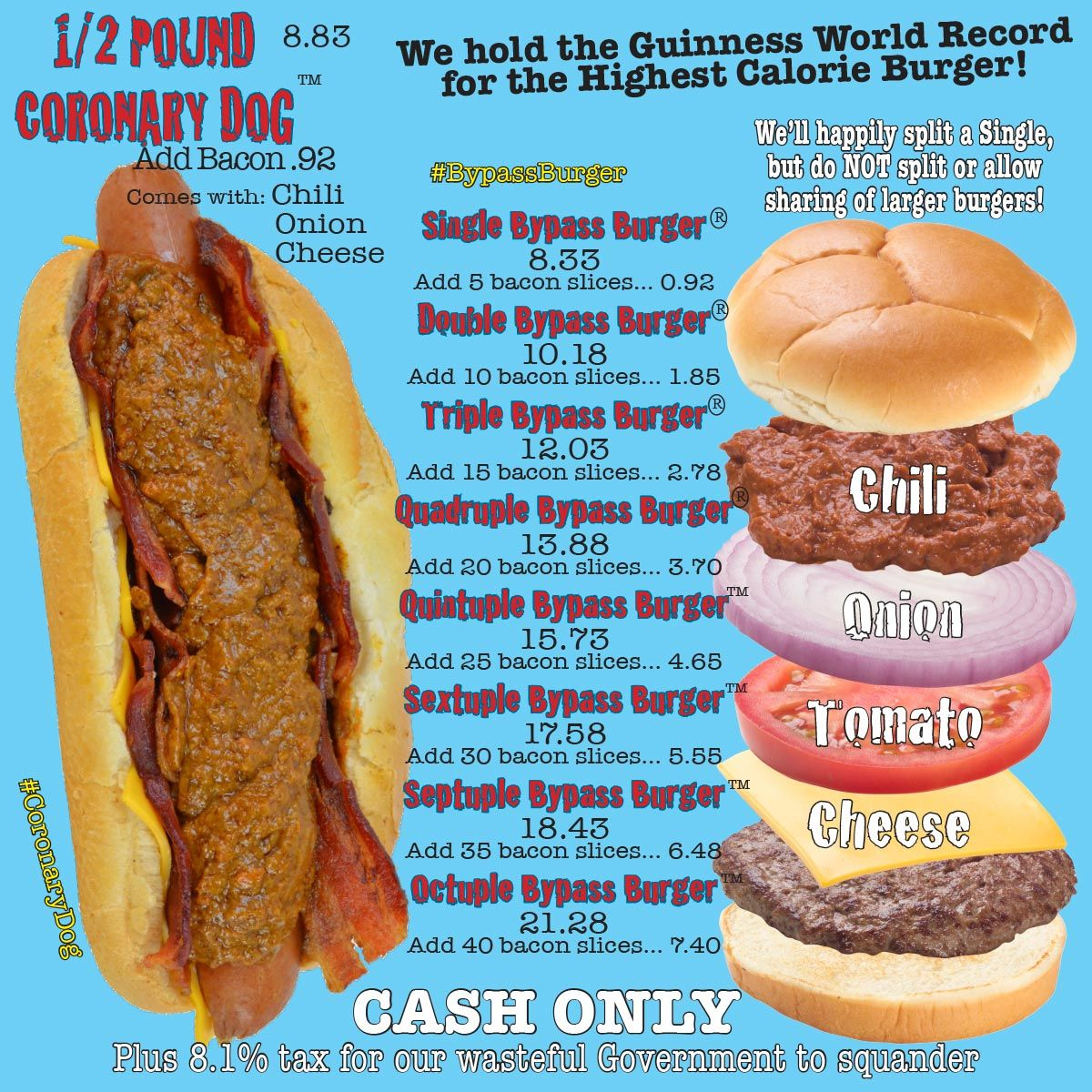 Heart attack grill menu with images grilling menu