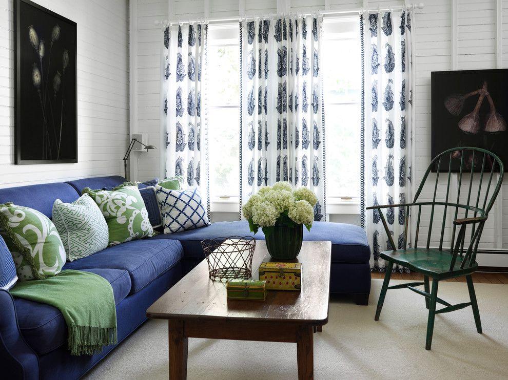 Dare To Decorate With Colorful Upholstery 9 Photos Mavi Oturma Odası Oturma Odası Fikirleri Geleneksel Oturma Odasi