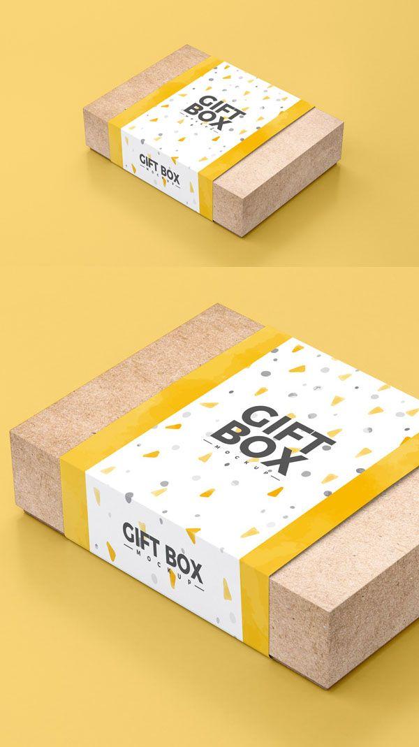 35 New Useful Free Psd Mockup Templates Box Packaging Design Gift Packaging Design Food Box Packaging