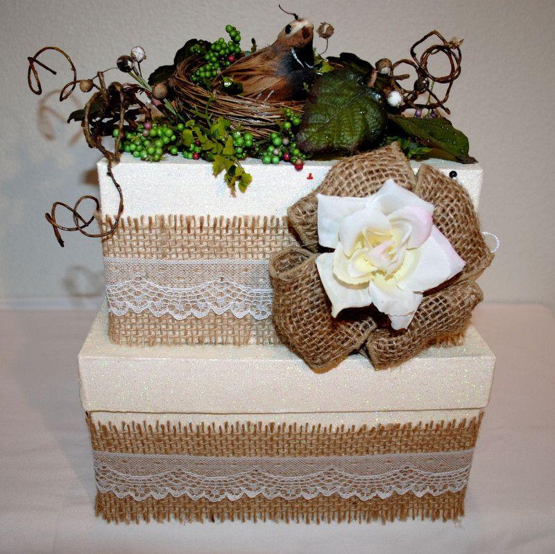 Wedding Cake Card Reception Box