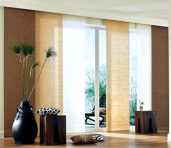 Bildergebnis für schiebevorhänge modern braun | Wohnzimmer ...