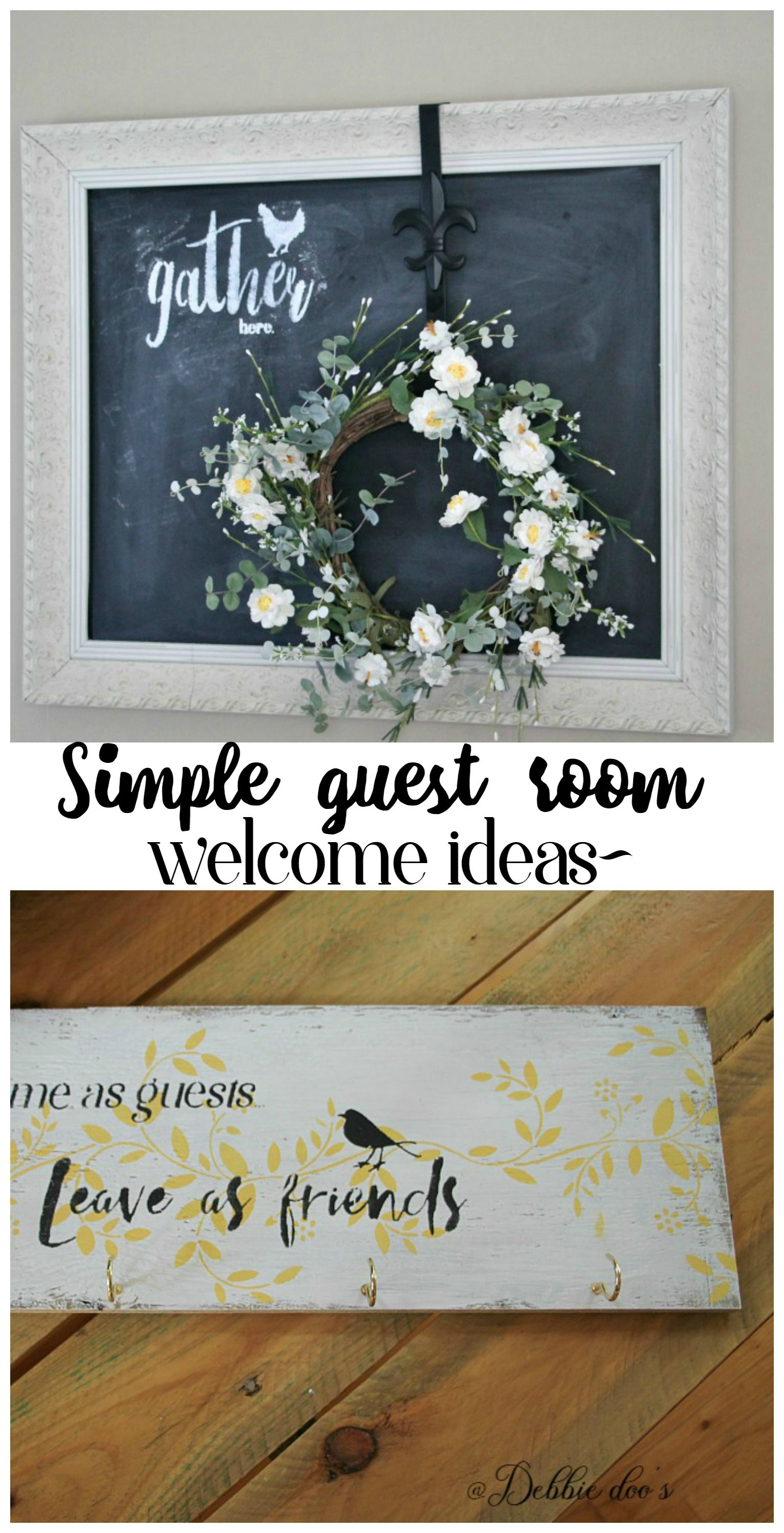 Simple guest room welcome ideas