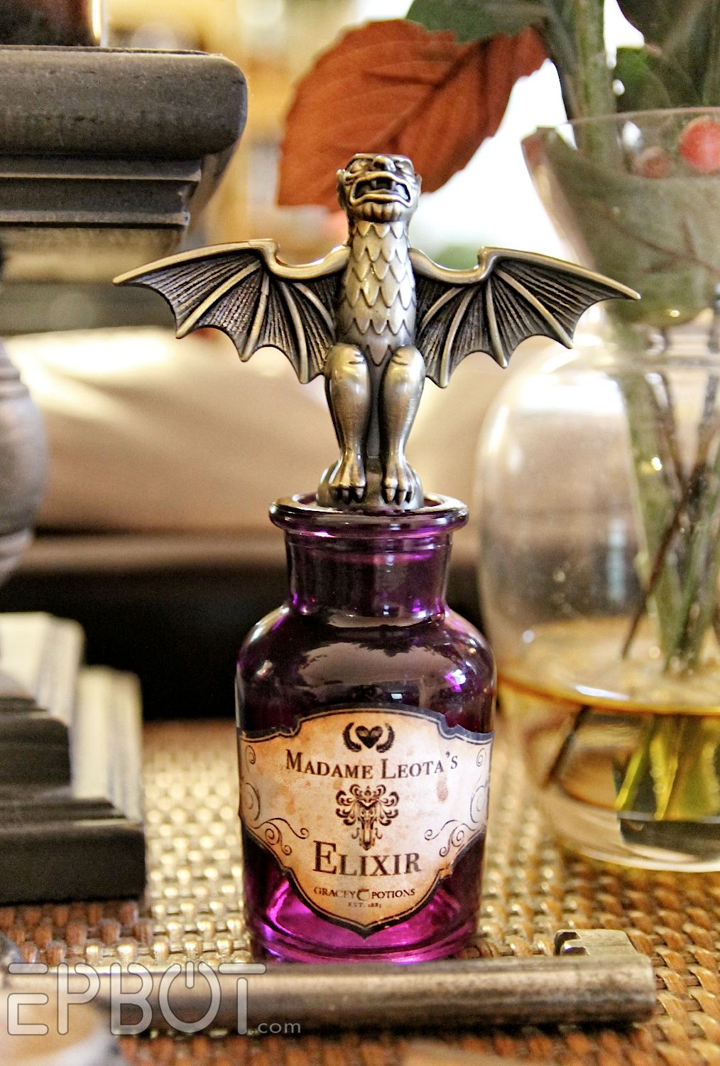 diy haunted mansion potion bottle