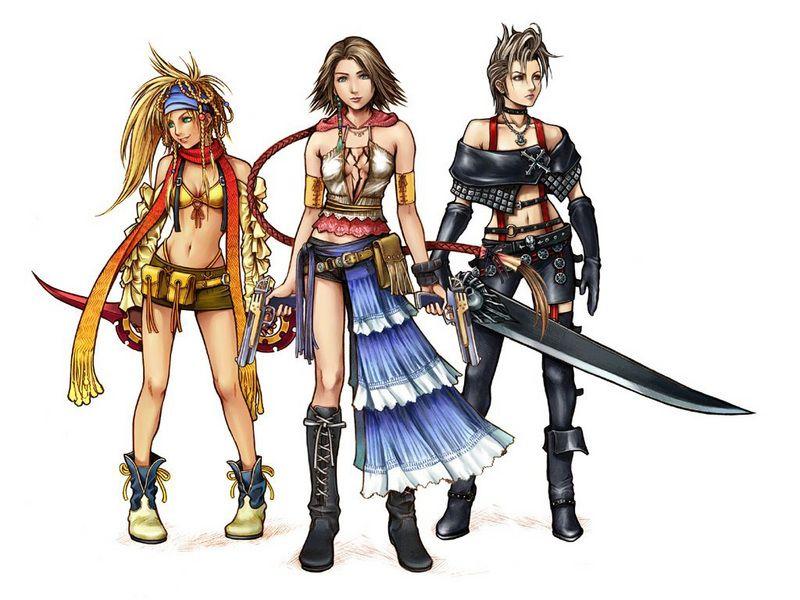 Final Fantasy X2 Rikku Yuna And Paine Final Fantasy X Lulu Final Fantasy Final Fantasy Characters