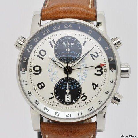 Authentic TechnoMarine 7614 Black /& Beige Leather Strap W// Buckle 20 mm