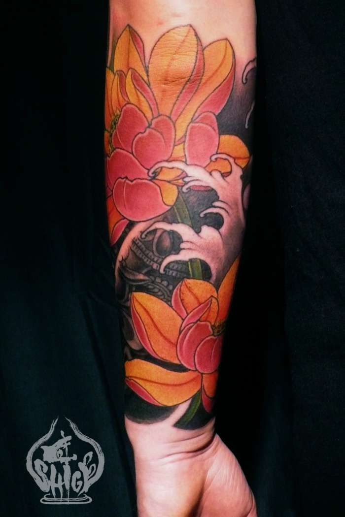 Pin By Andrew Wirick On Contemporary Japanese Sleeves Lotus Flower Colors Tattoos Japanese Flower Tattoo