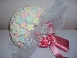Resultado de imagem para bouquet marshmallow flor