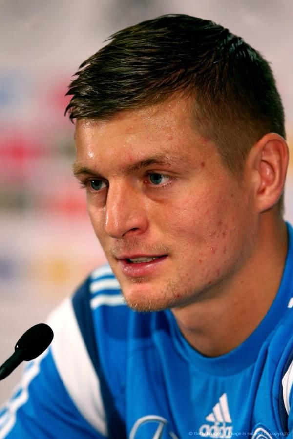 Toni Kroos   German National team preparing for match against Poland. Press conference Oct 8/14