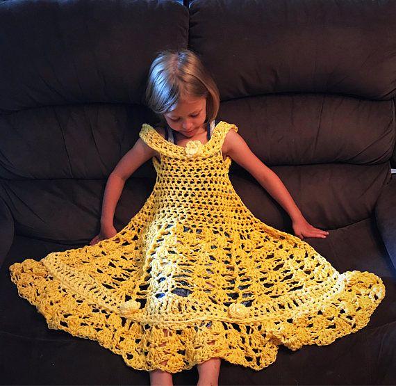 Crochet Princess Blanket Dress | Manta y Tejido