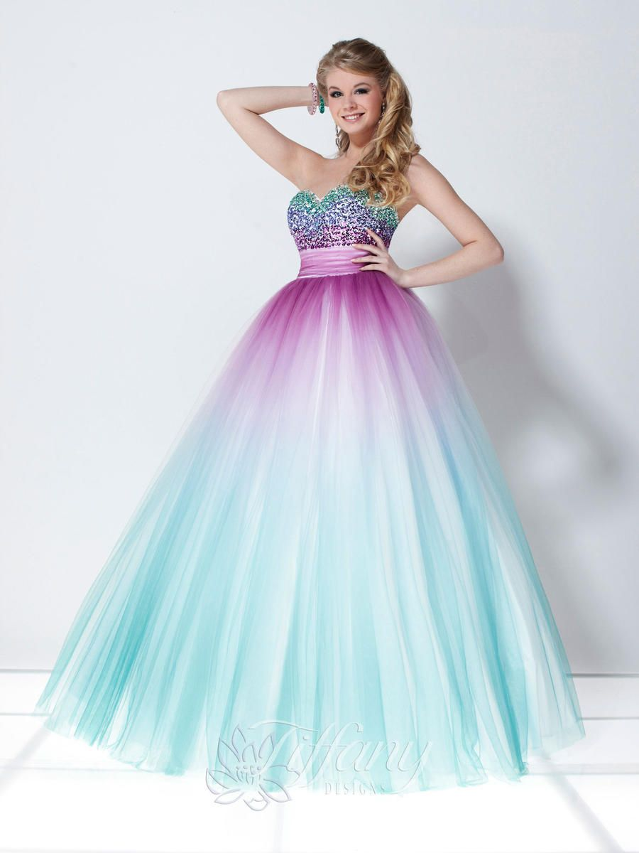 2014 Popular A-line Sweetheart Strapless Sequined Purple/turquoise ...