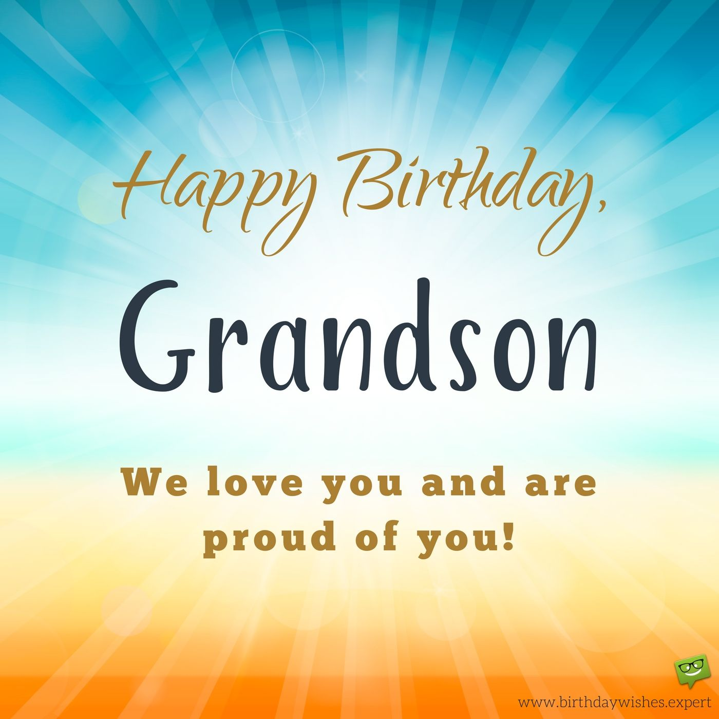 From your hitech grandma and grandpa birthday wishes for my