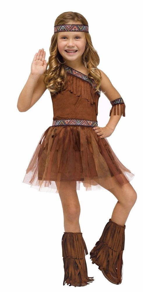 girls native american indian costume fancy dress tutu toddler kids child new costumes ecb. Black Bedroom Furniture Sets. Home Design Ideas