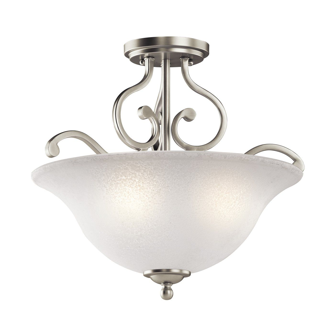 Kichler lighting camerena 3 light semi flush ceiling light lowes canada