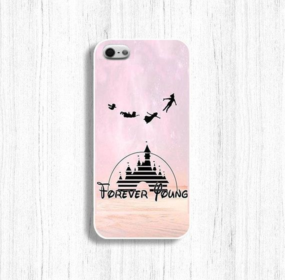 Disney phone case Forever Young case  for iPhone 5/5S iPhone 4/4s on Etsy, $9.99