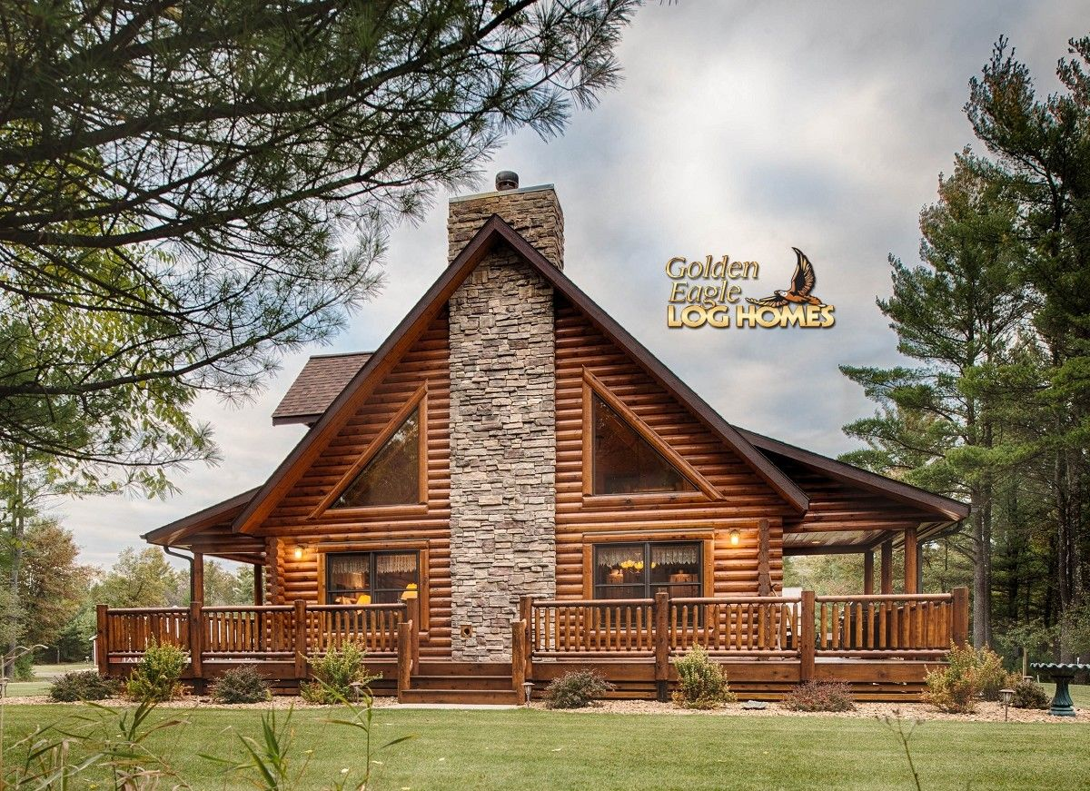 Side exterior lofted log home pinterest cabin logs for Log cabin packages for sale