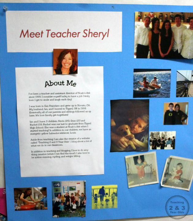 how to write a teacher bio for parents