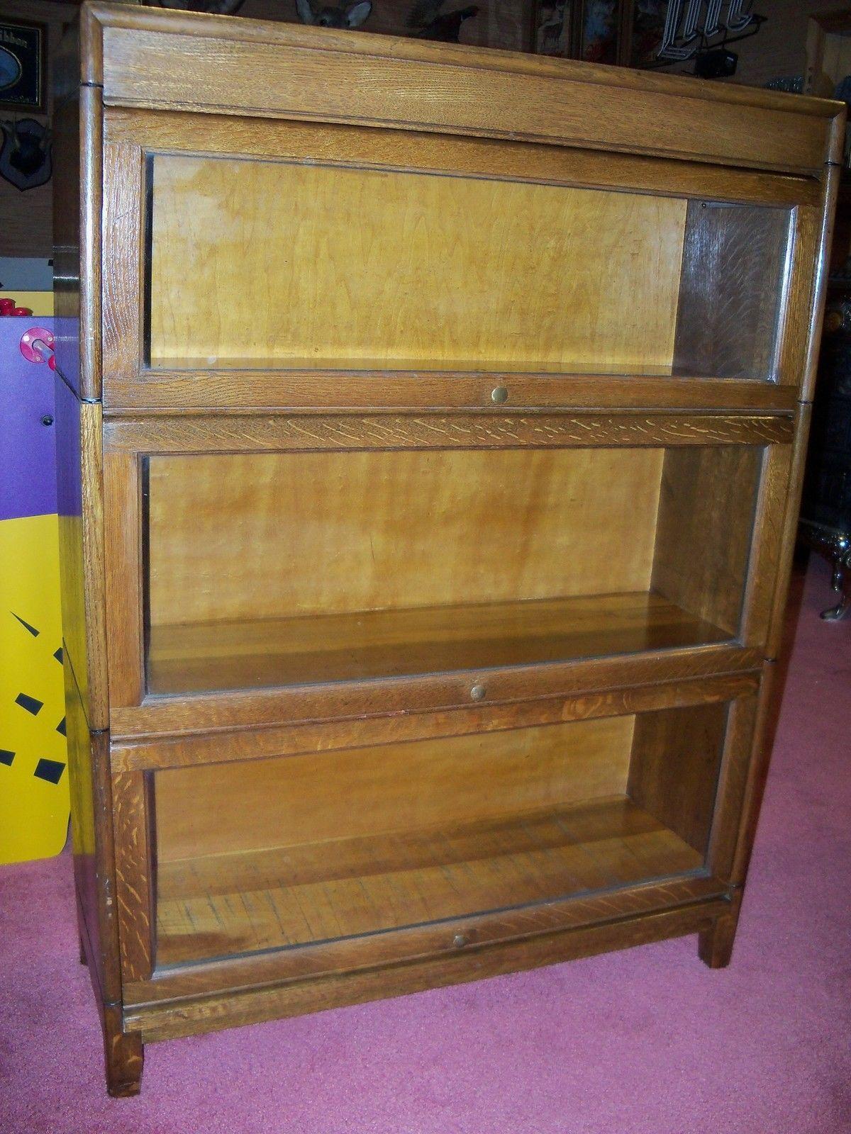 Antique Oak Barrister Bookcase Gunn Furniture Ebay