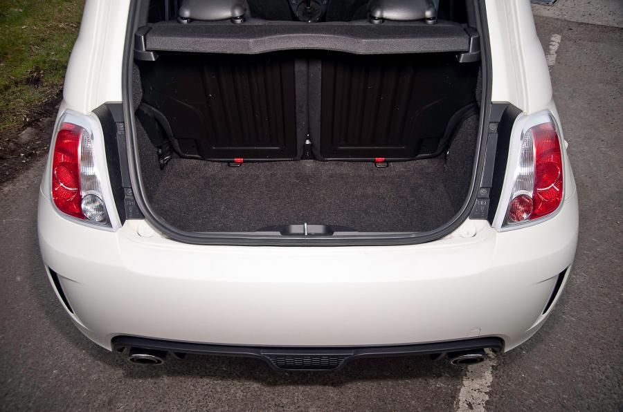 the rear seats split 50 50 to extend the 185 litre boot the parcel shelf is tiny abarth. Black Bedroom Furniture Sets. Home Design Ideas