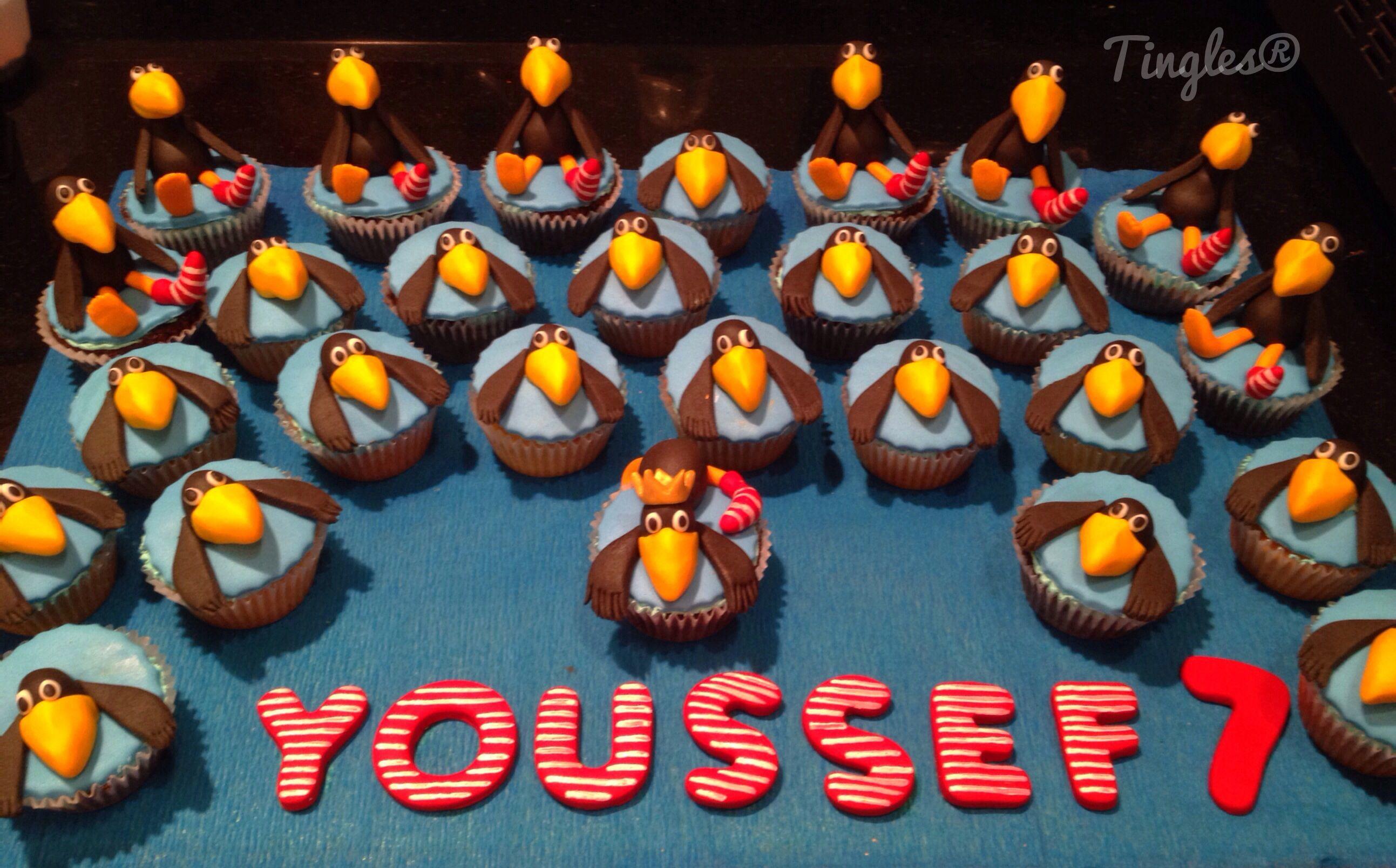 The little sock raven cupcakes. :) German cartoon character (der klein rabe socke).