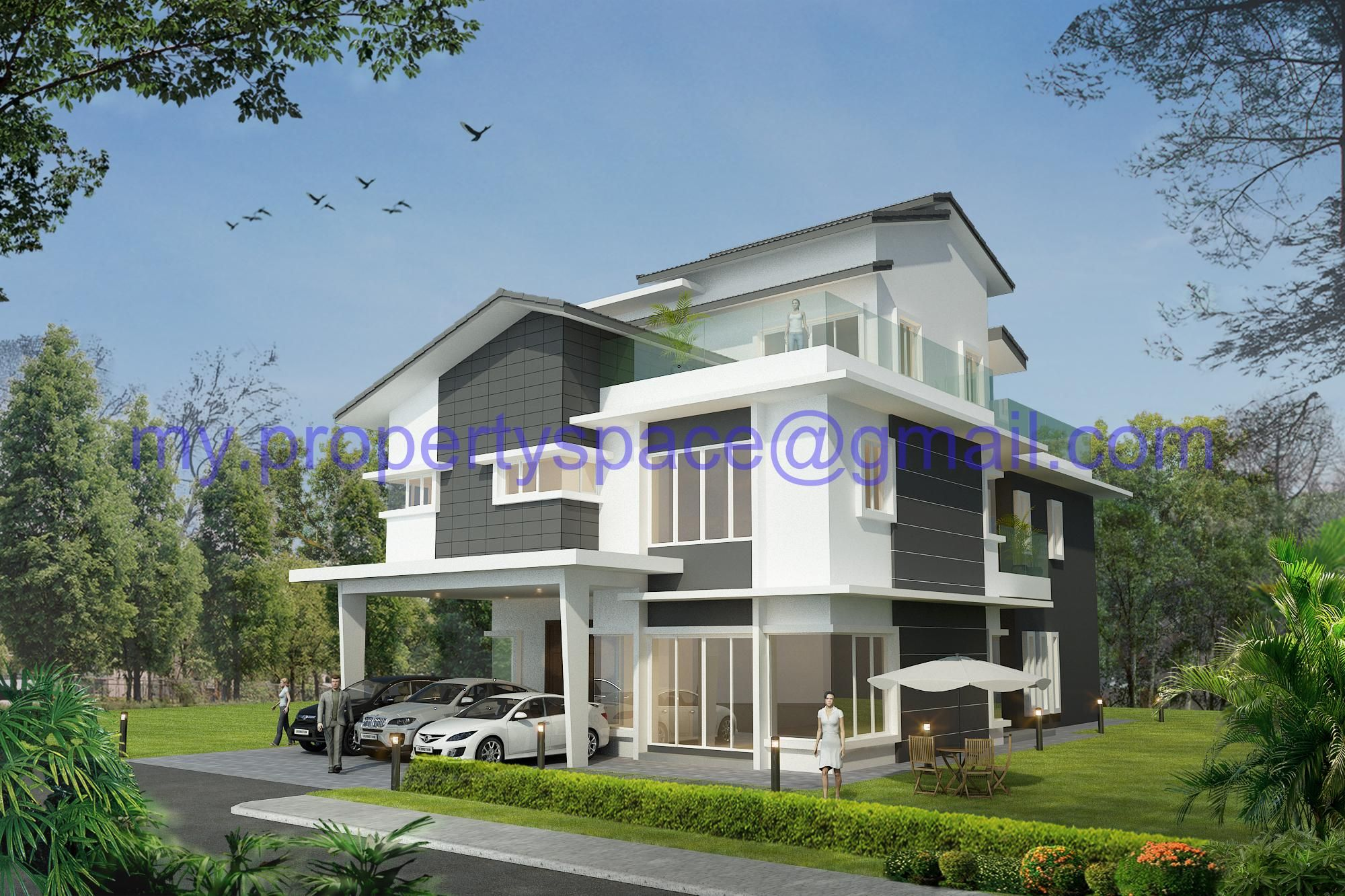 Modern bungalow house design malaysia contemporary Modern bungalow house