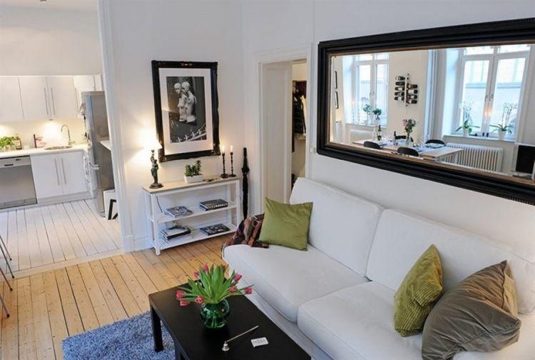 Kleines Langliches Wohnzimmer Mit Offener Kuchennische Home