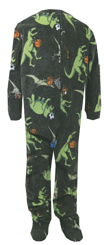 Dinosaur Sports Fleece Footie Pajamas Onesie