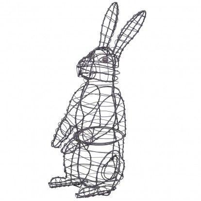 Rabbit Standing Topiary Mesh Wire Frame 33cm High   Rabbit ...
