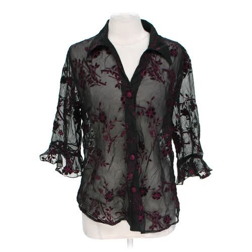 For sale: Sheer Embroidered Blouse on Swap.com online consignment store