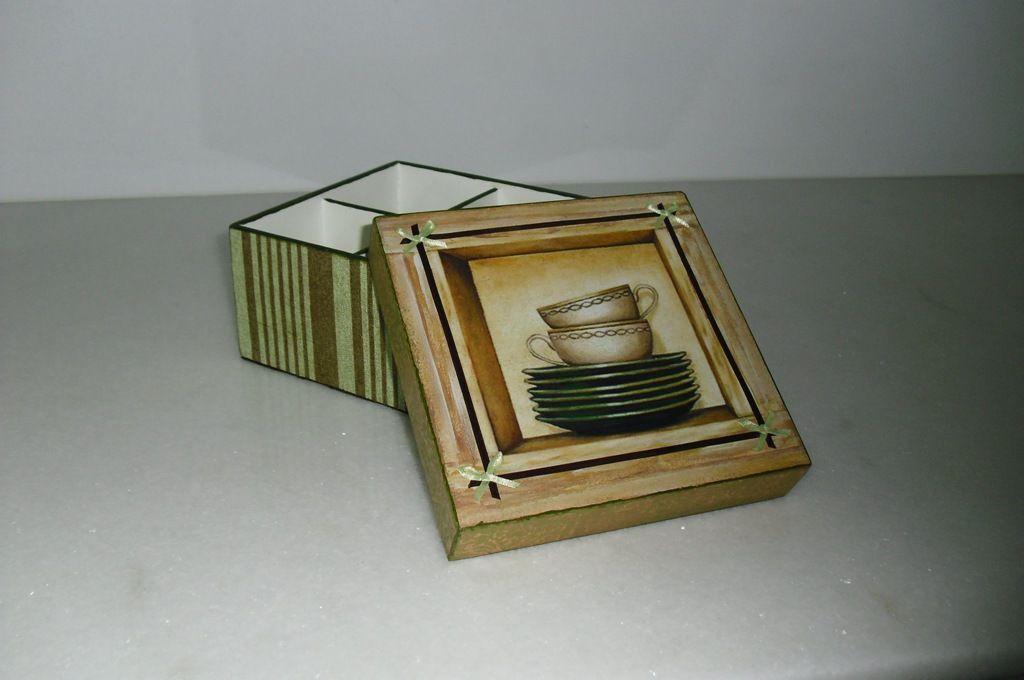 caixinha 4 divisorias para cha imagem em papel fotografico