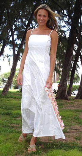 Hawaiian style wedding dress | All things wedding | Pinterest ...
