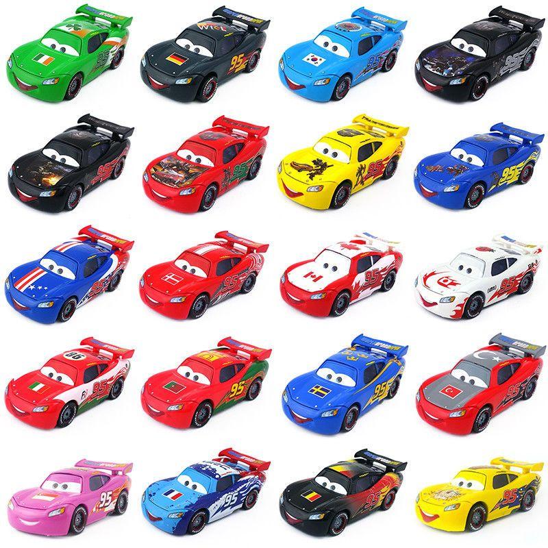 Mattel Disney Pixar Cars No.95 Lightning McQueen Toy Car 1:55 New In ...