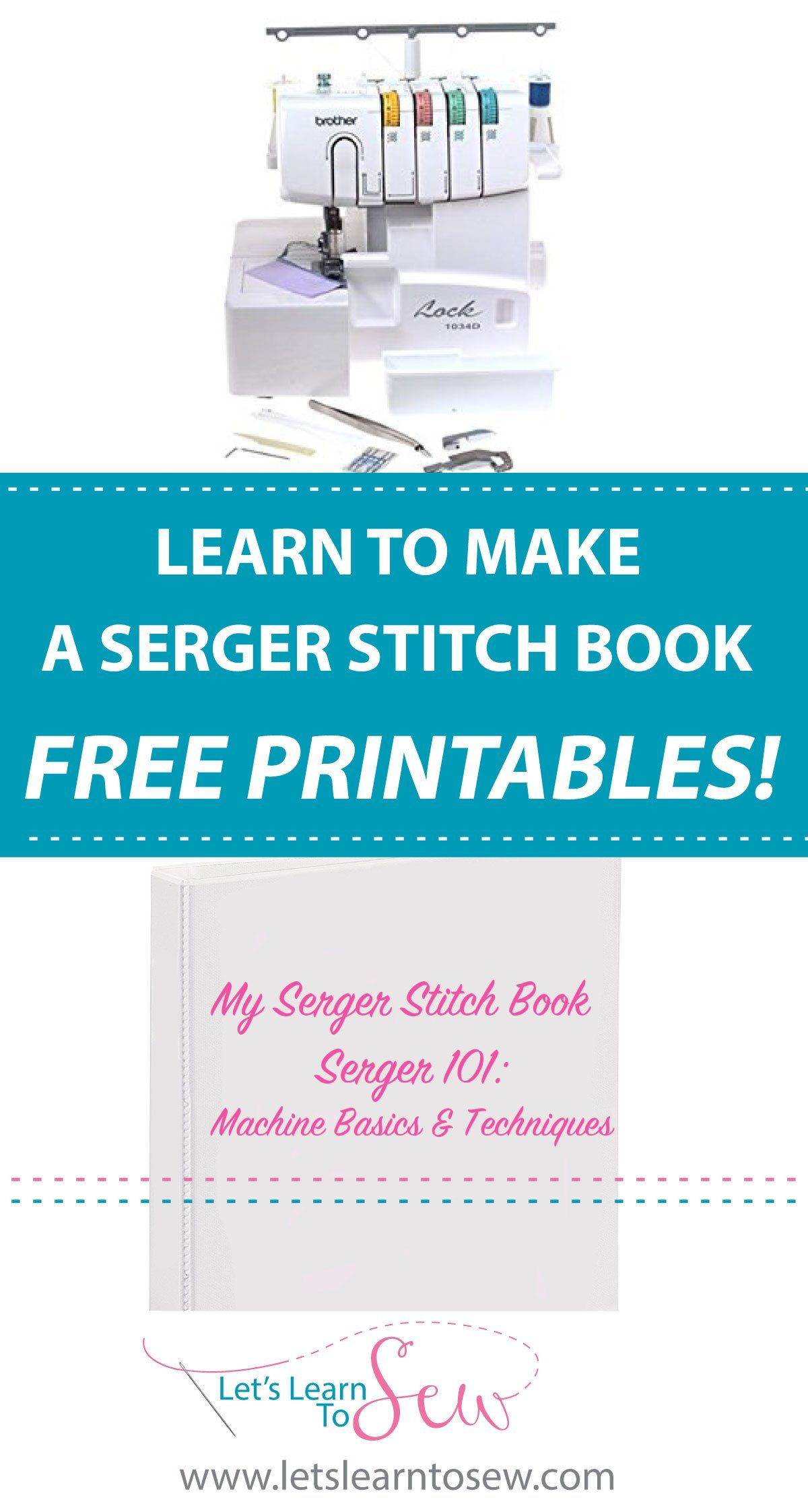 How To Make A Serger Stitch Book. Including free printable sheets ...