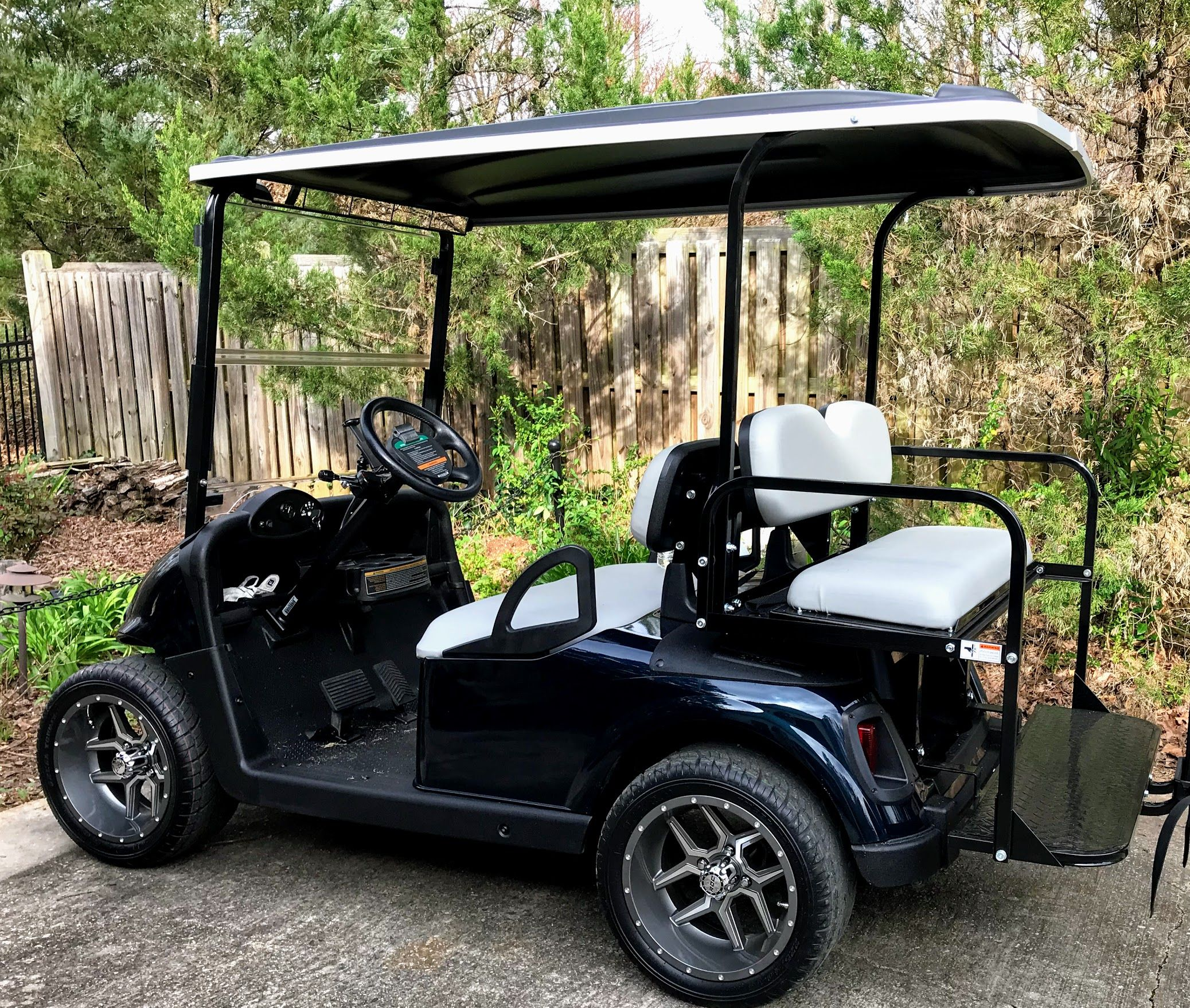 4 Seat Golf Cart Make Room For Passengers Or For Hauling Stuff Golf Carts Ezgo Golf Cart Golf Cart Seats