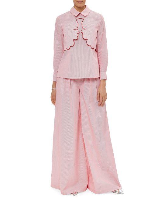 6cbdea4225 Vivetta | Pink Red Striped Twill Adria Blouse | Lyst | Fashion | Red ...