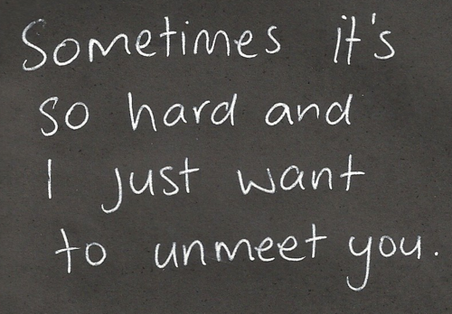 Just sometimes......