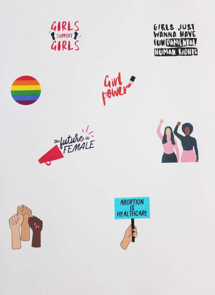 DIY Colorful Feminist Pins With images   Feminist pins ...