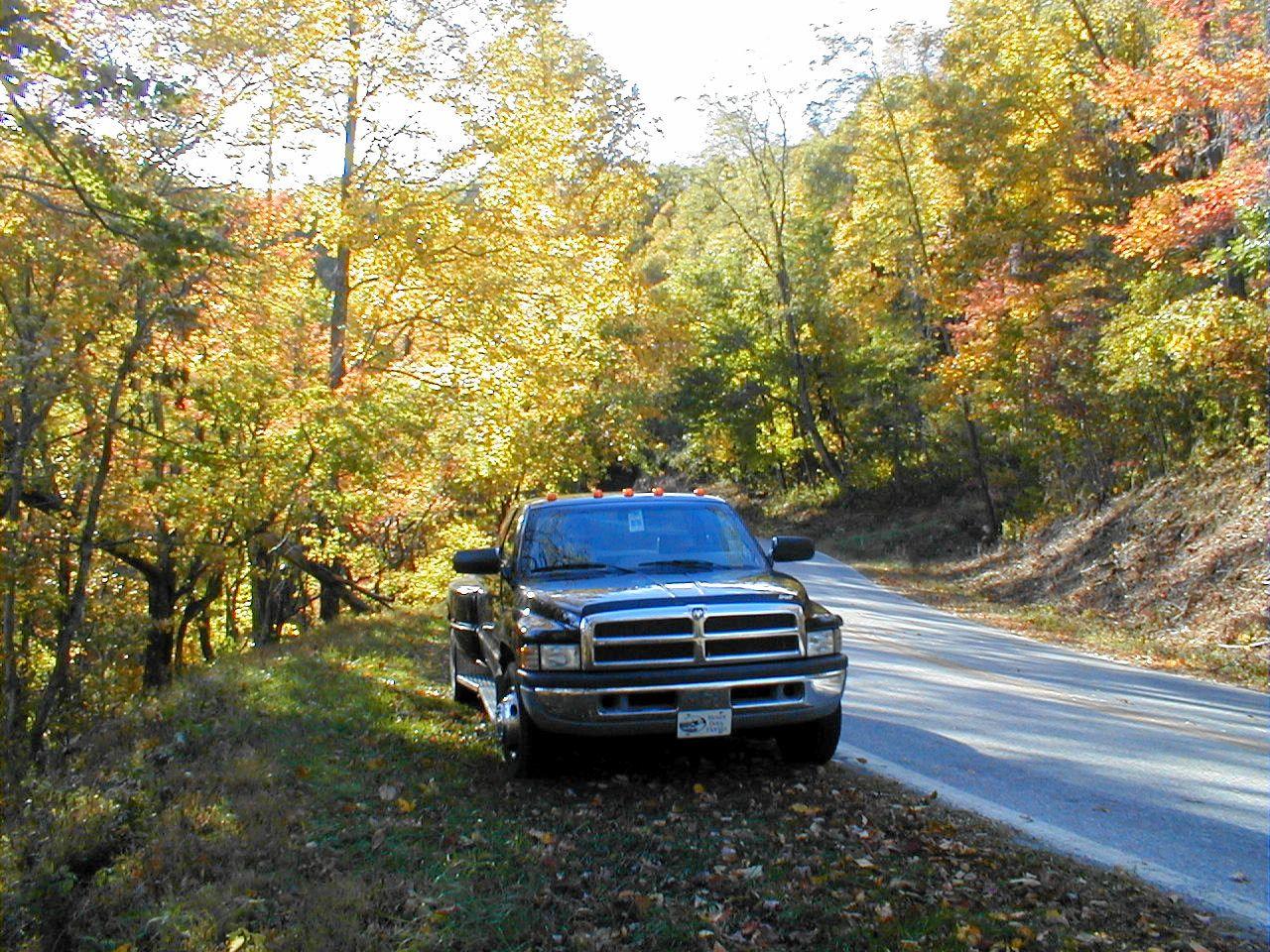 Fall colors in the mountains near Ashville, North Carolina. ~~ 10/23/99
