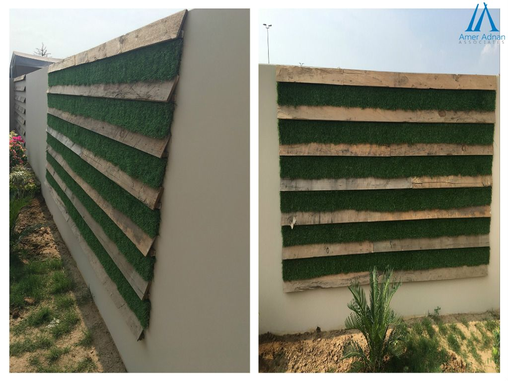 Boundary wall design idea of recently constructed house in Sialkot ...