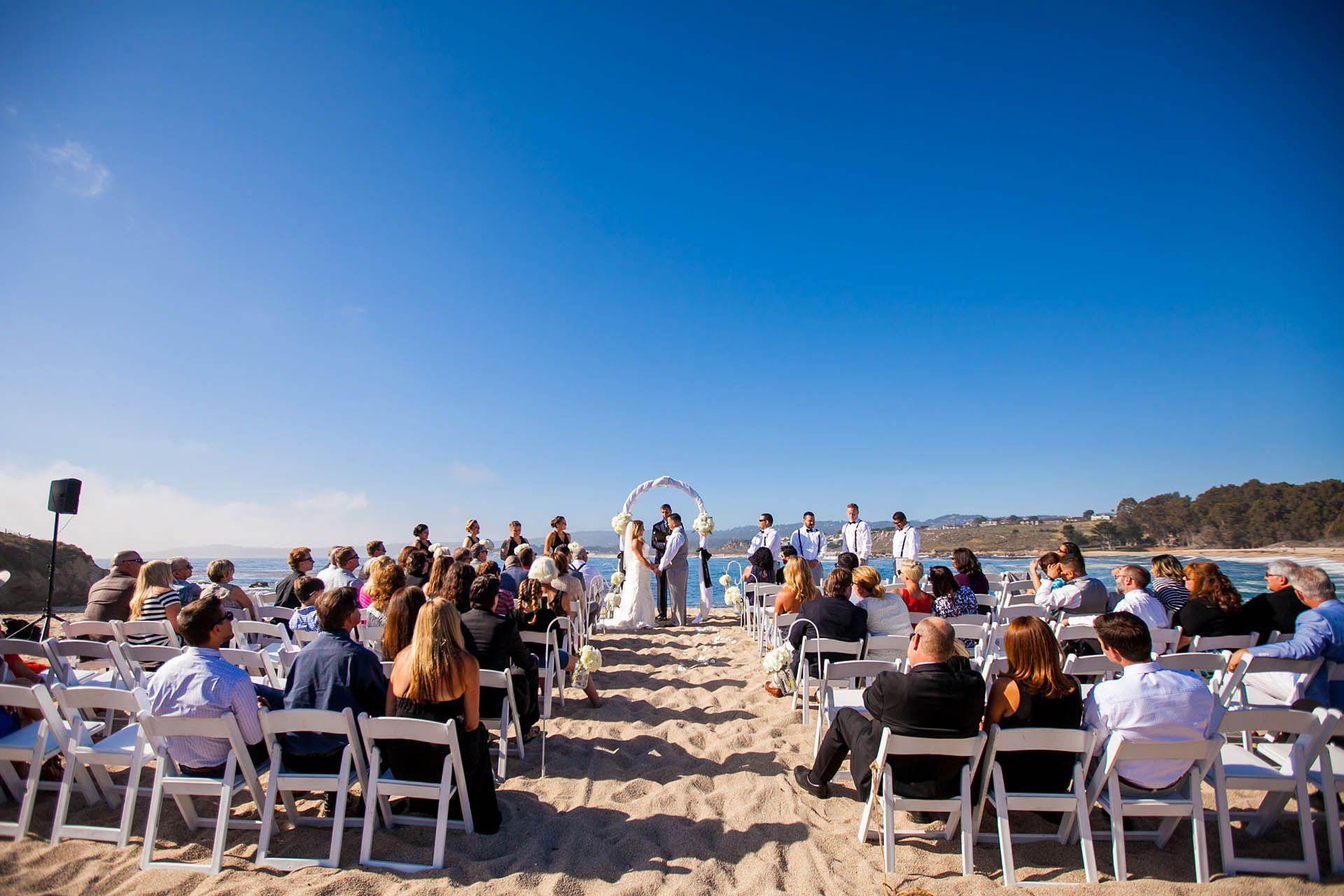Beach ceremony in the Monterey Peninsula Monterey