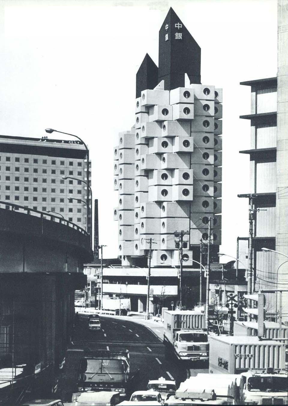 Kurokawa S Capsules Nakagin Capsule Tower Kisho Kurokawa Tower
