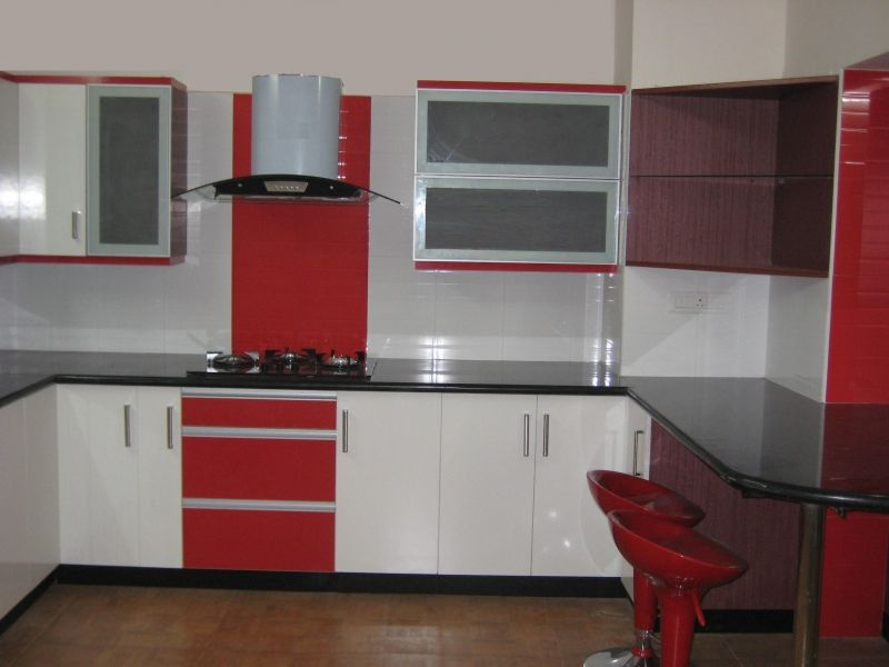 red white and black kitchen designs. Find another beautiful images Red White Modern Modular Kitchen Design Ideas  at http