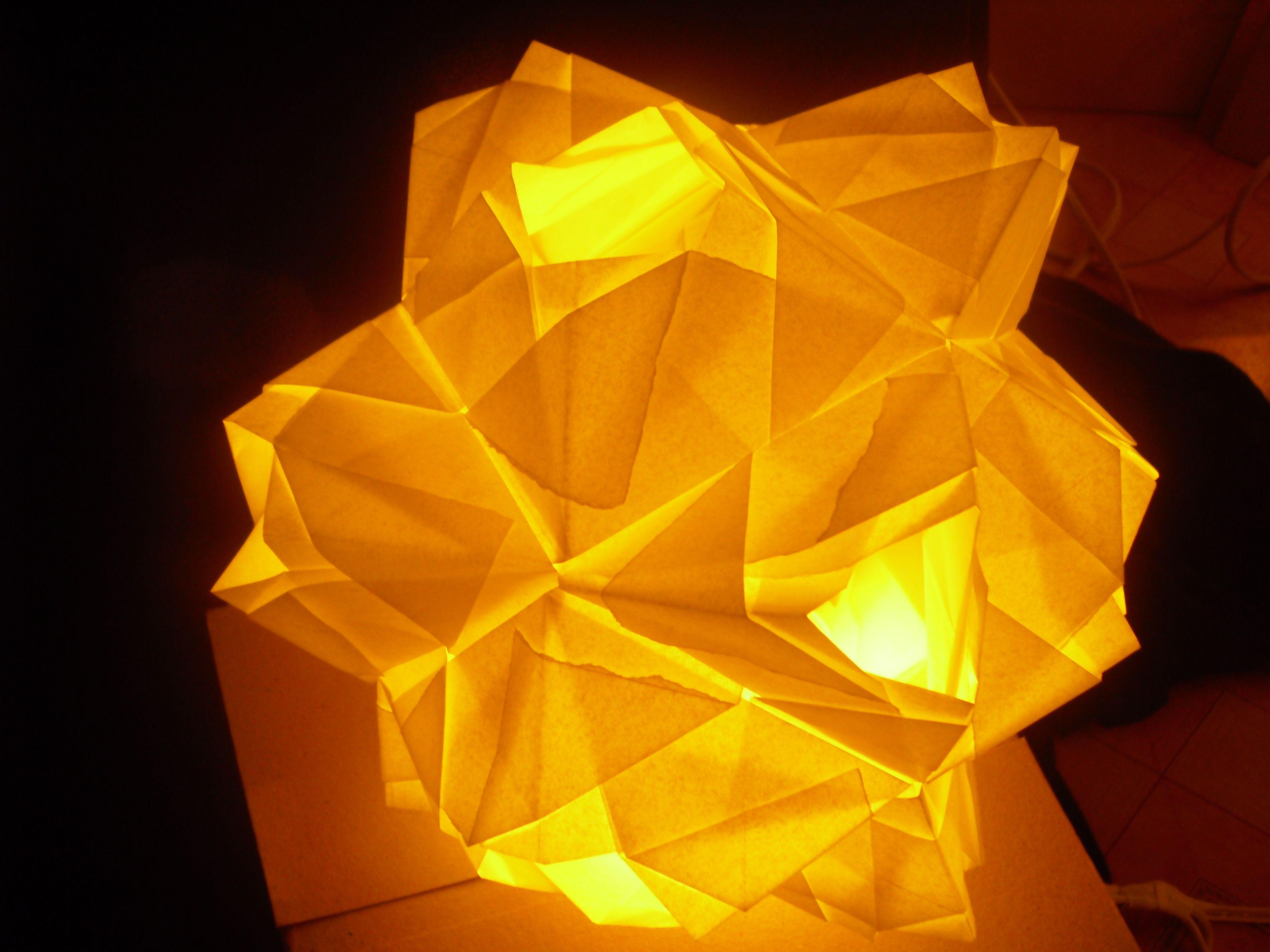 Photo of Leo Origami Cube (LOC) 1.6 Designed by: Leo R. Natividad 24 pcs. Parchment Paper…