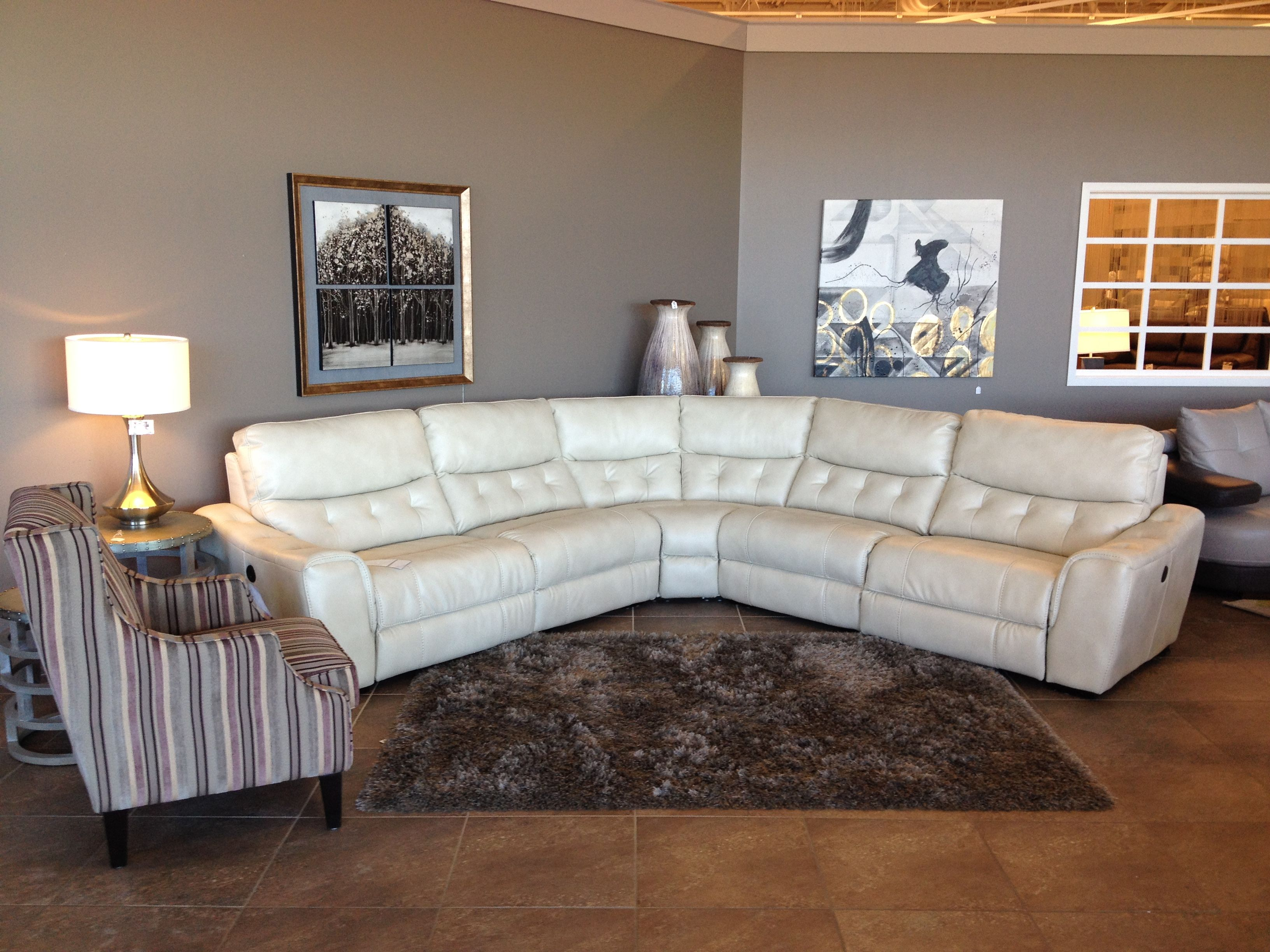 Our Calista sectional looks amazing in White This piece features