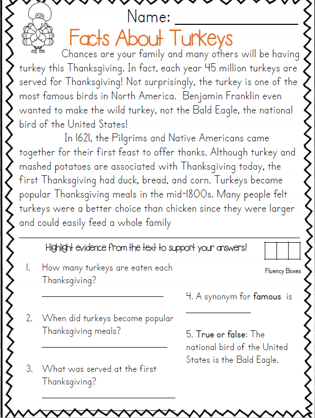 Thanksgiving Reading Passages (Common Core Aligned) Thanksgiving Reading  Passages, Thanksgiving Readings, Thanksgiving Reading Activities