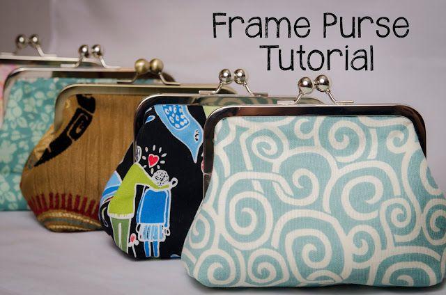 Frame Purse Tutorial Sewplicity Purse Tutorial Frame Purse Sewing Bag