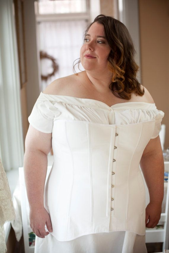 191c3b20a9a SALE Edwardian Corset in Plus Sizes for Living by Redthreaded ...