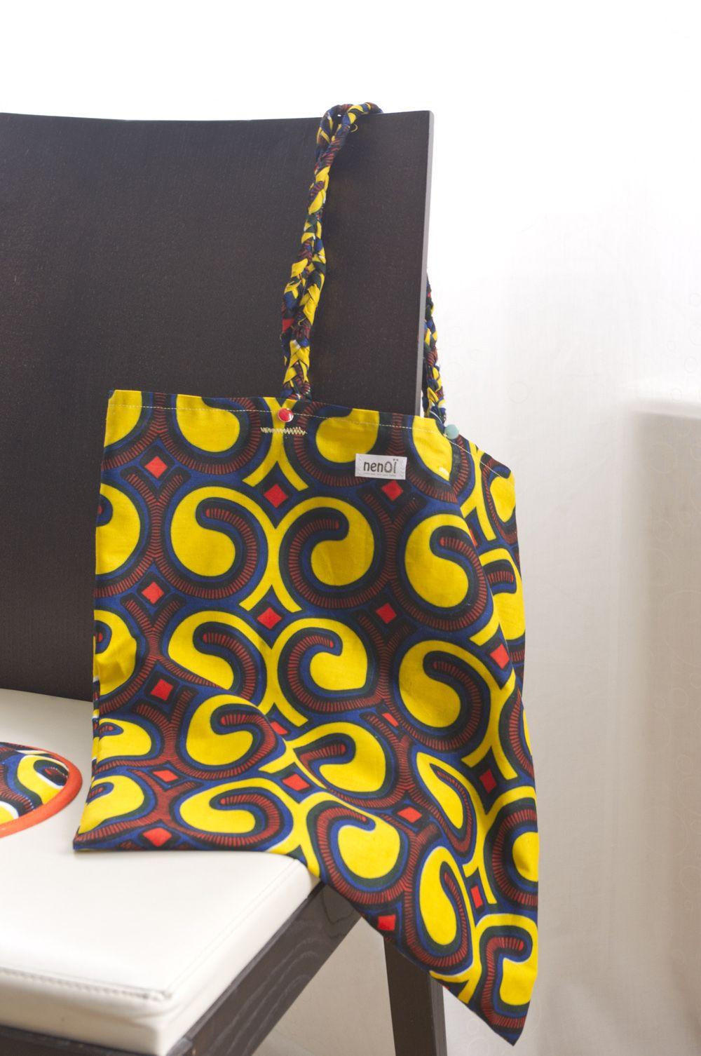 Tote bag en wax #wax #ankara #africanprint