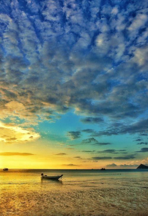 Sunset in koh tao island, Thailand