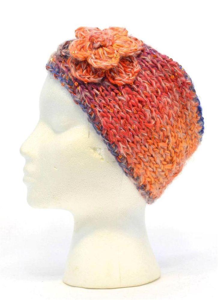 Mudd Women Orange Blue Pink Green Headband Knit Fashion Snow Warm 9982