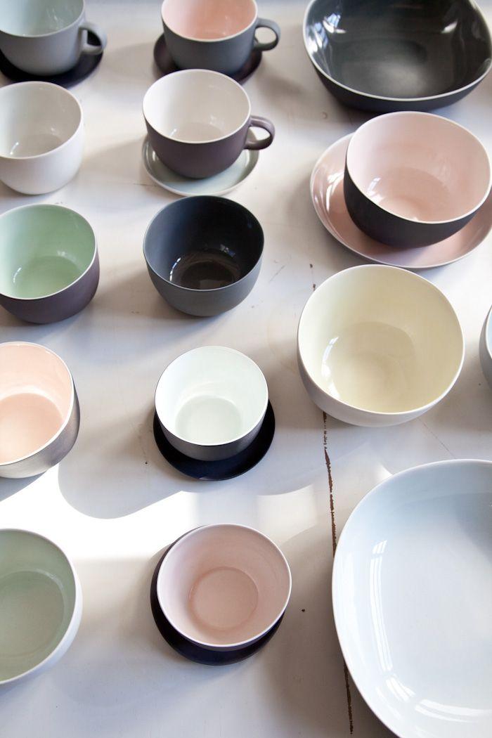 Nathalie Lahdenmaki Neutral Matte Surfaces With Glazed Interiors Ceramic Tableware Scandinavian Ceramic Ceramic Design